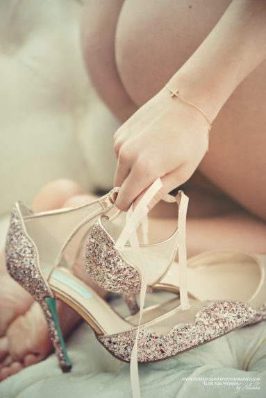 Toronto Boudoir Photography by Dream Boudoir Toronto | Female Photographer Alishba | Bridal boudoir wedding shoes gift