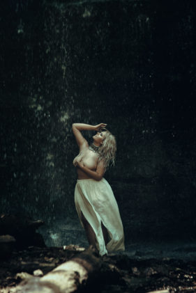Dream Boudoir Toronto Studio — Curvy waterfall outdoor boudoir Photography Female Photographer