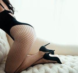 Toronto boudoir photographer photography alishba female fishnet pearls inspiration lingerie makeup glamour
